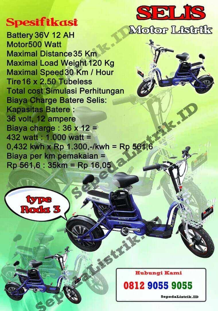 Sepeda Listrik Jakarta 0857 9999 9031 Wa Harga Motor Selis Type Merak Di